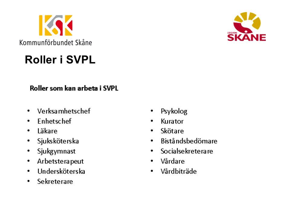 Roller i SVPL