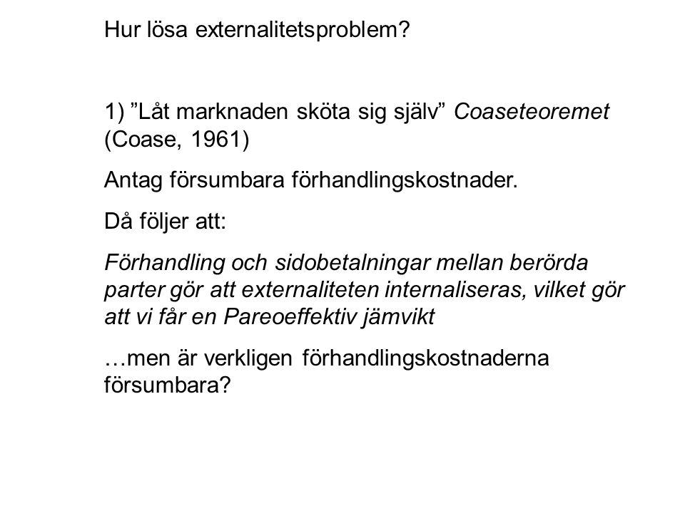 Hur lösa externalitetsproblem