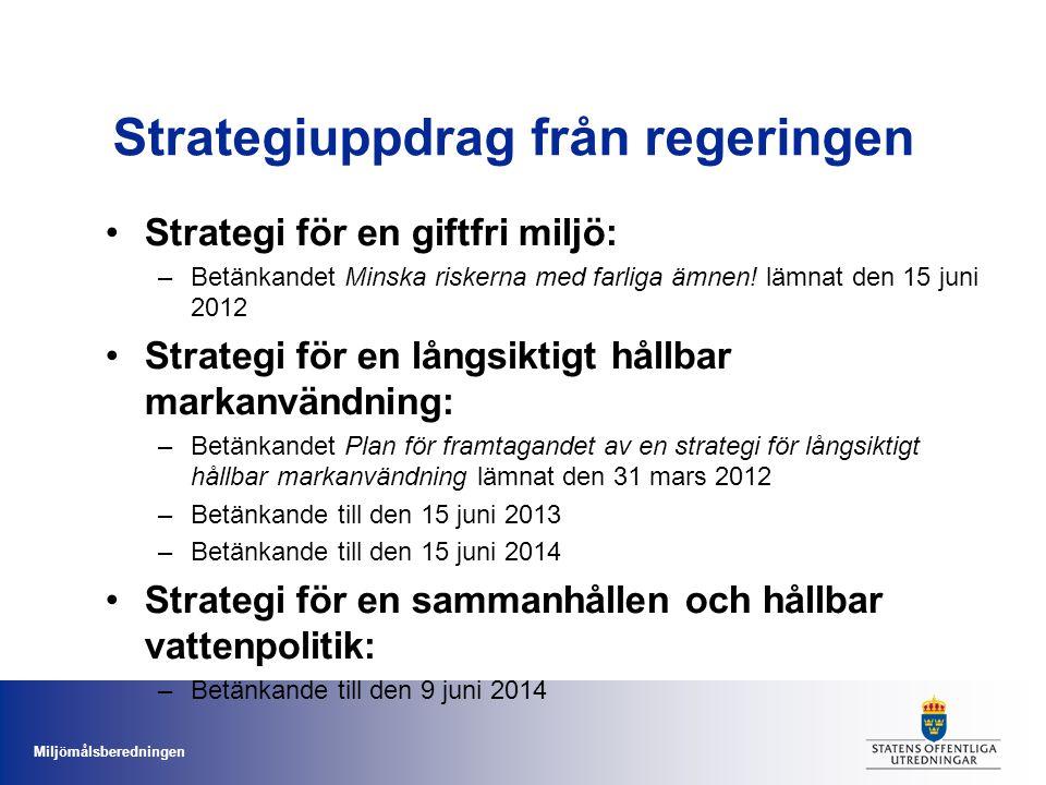 Strategiuppdrag från regeringen