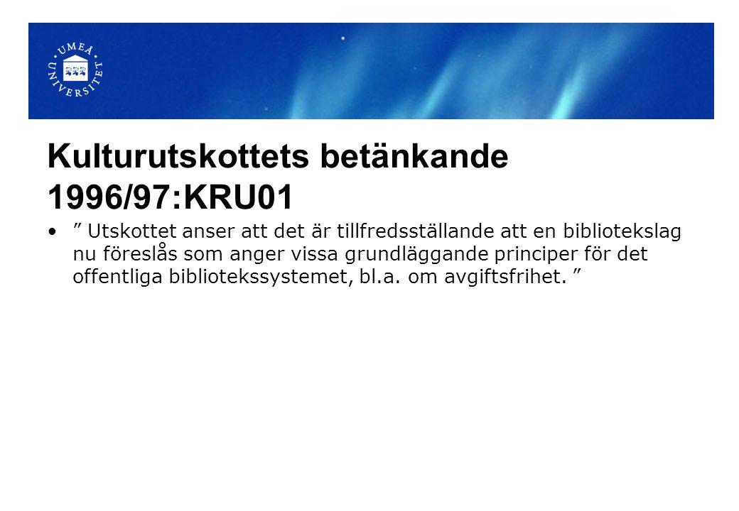 Kulturutskottets betänkande 1996/97:KRU01