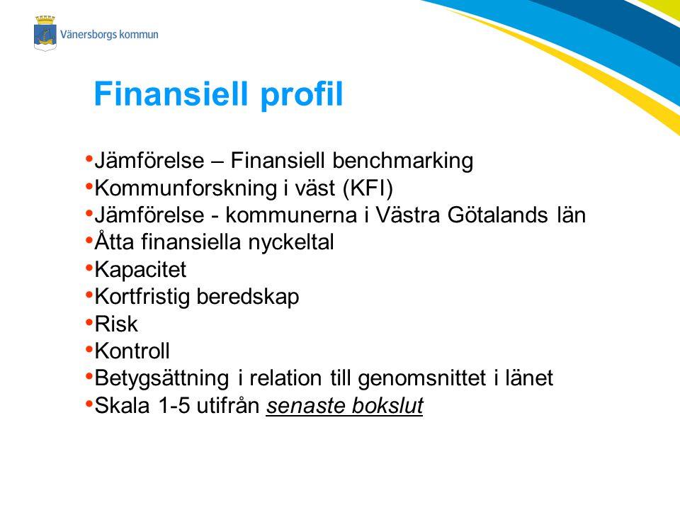 Finansiell profil Jämförelse – Finansiell benchmarking
