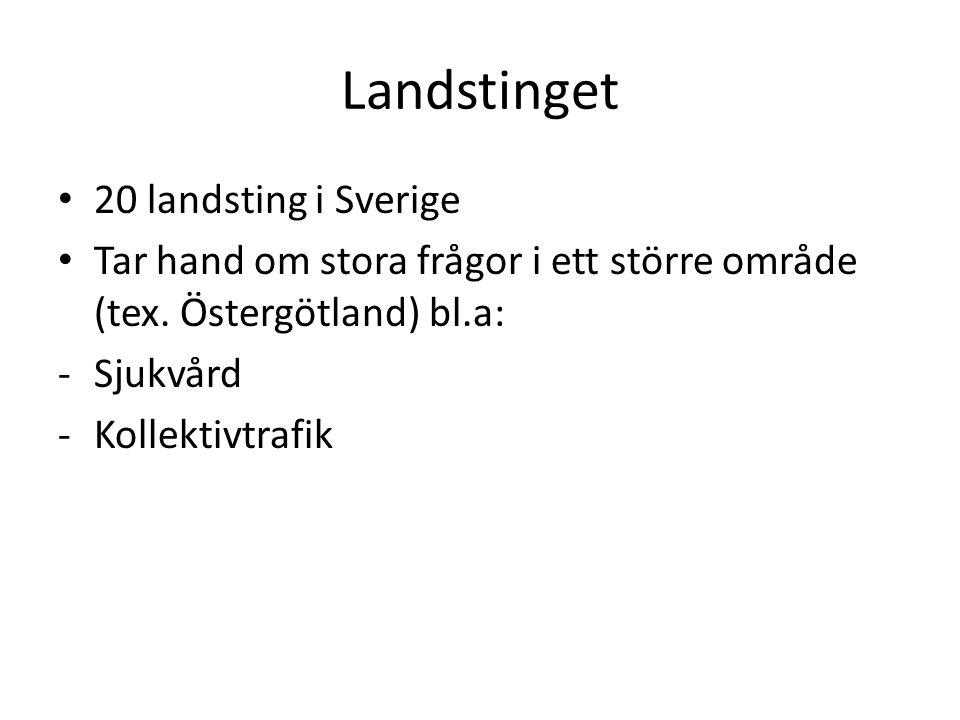 Landstinget 20 landsting i Sverige