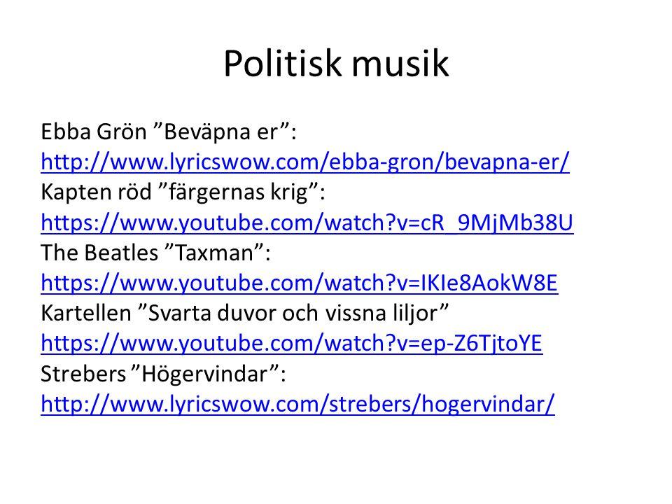 Politisk musik