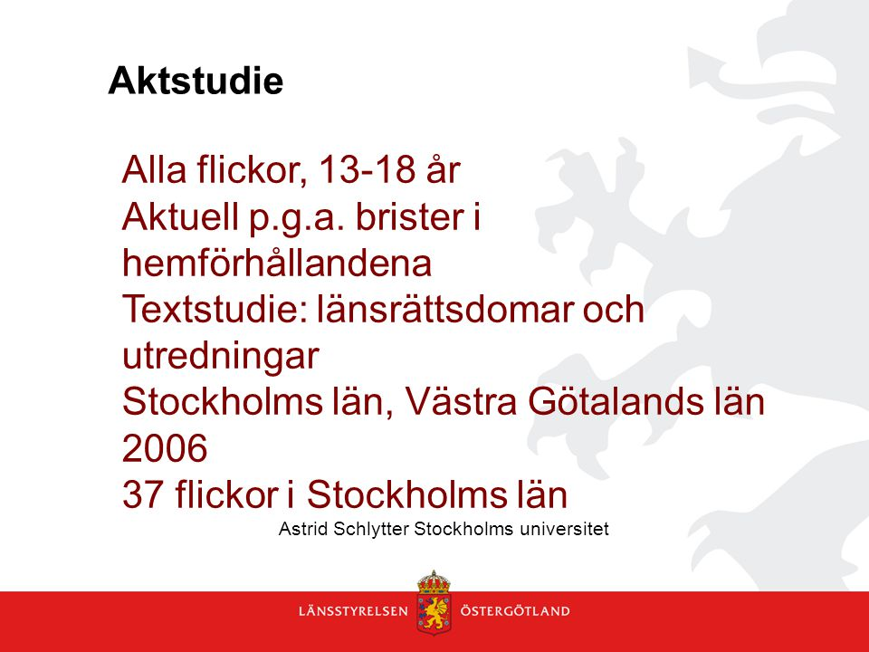Astrid Schlytter Stockholms universitet