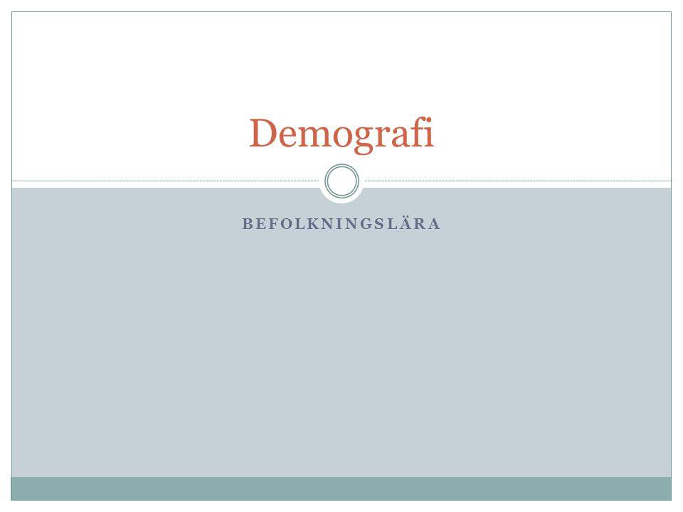 Demografi Befolkningslära