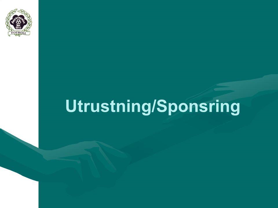 Utrustning/Sponsring