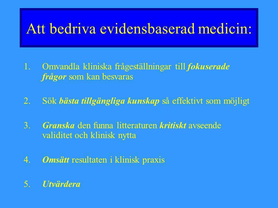Att bedriva evidensbaserad medicin: