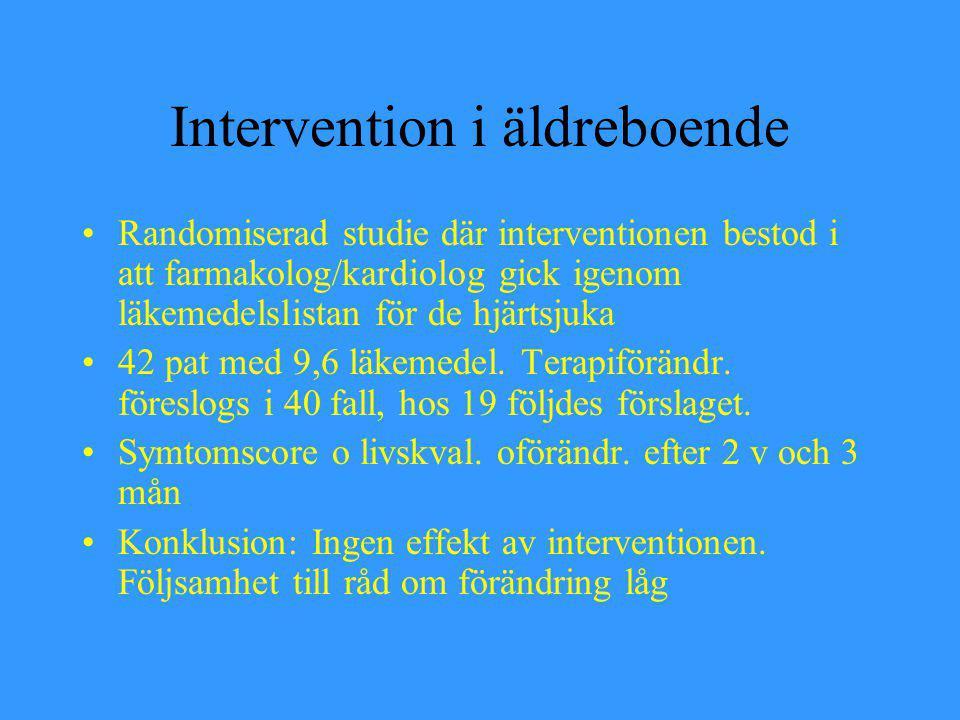 Intervention i äldreboende