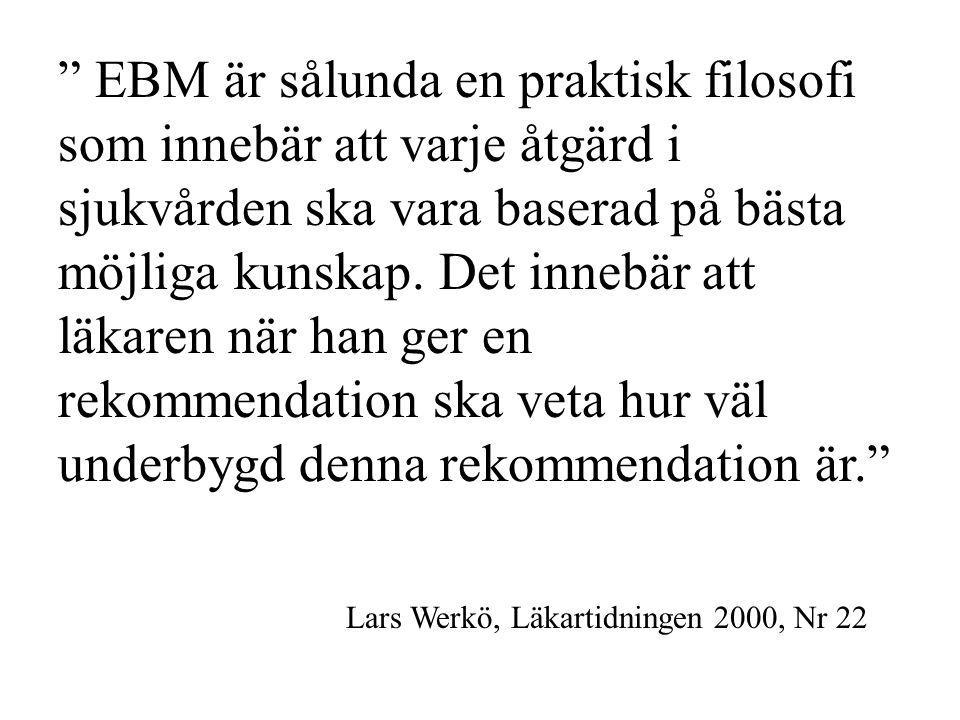 Lars Werkö, Läkartidningen 2000, Nr 22