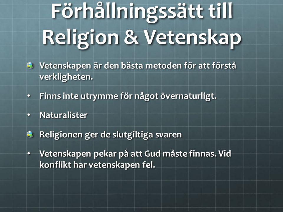 Förhållningssätt till Religion & Vetenskap