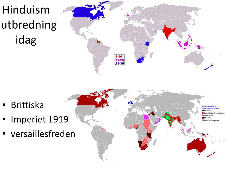 Hinduism utbredning idag