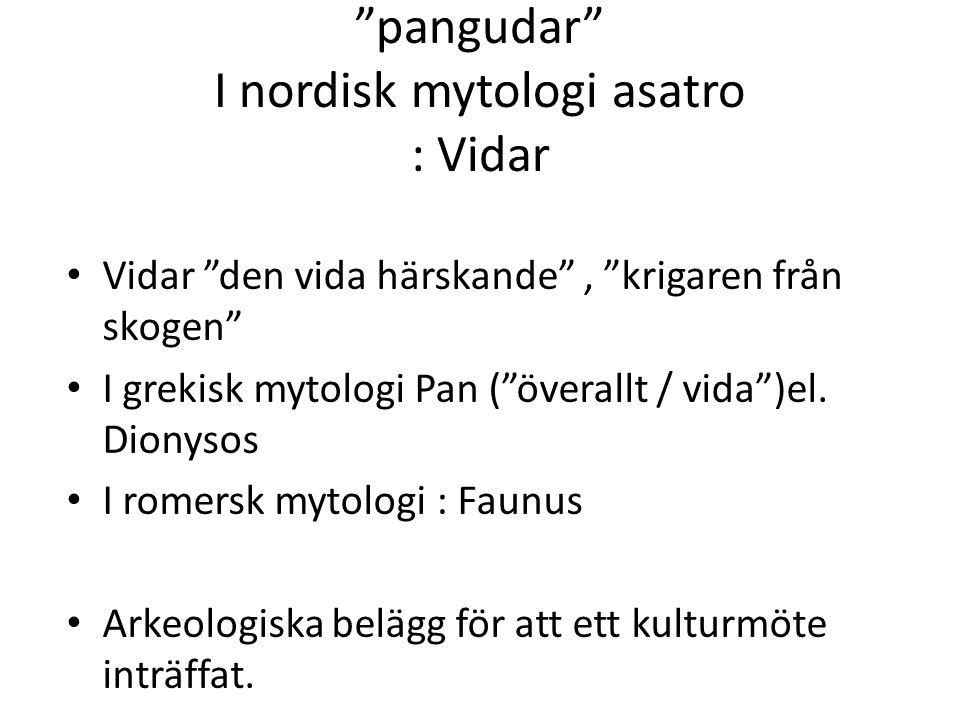 pangudar I nordisk mytologi asatro : Vidar