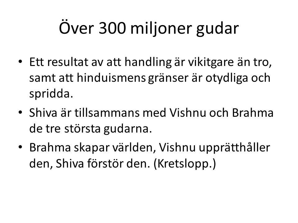 Över 300 miljoner gudar Ett resultat av att handling är vikitgare än tro, samt att hinduismens gränser är otydliga och spridda.