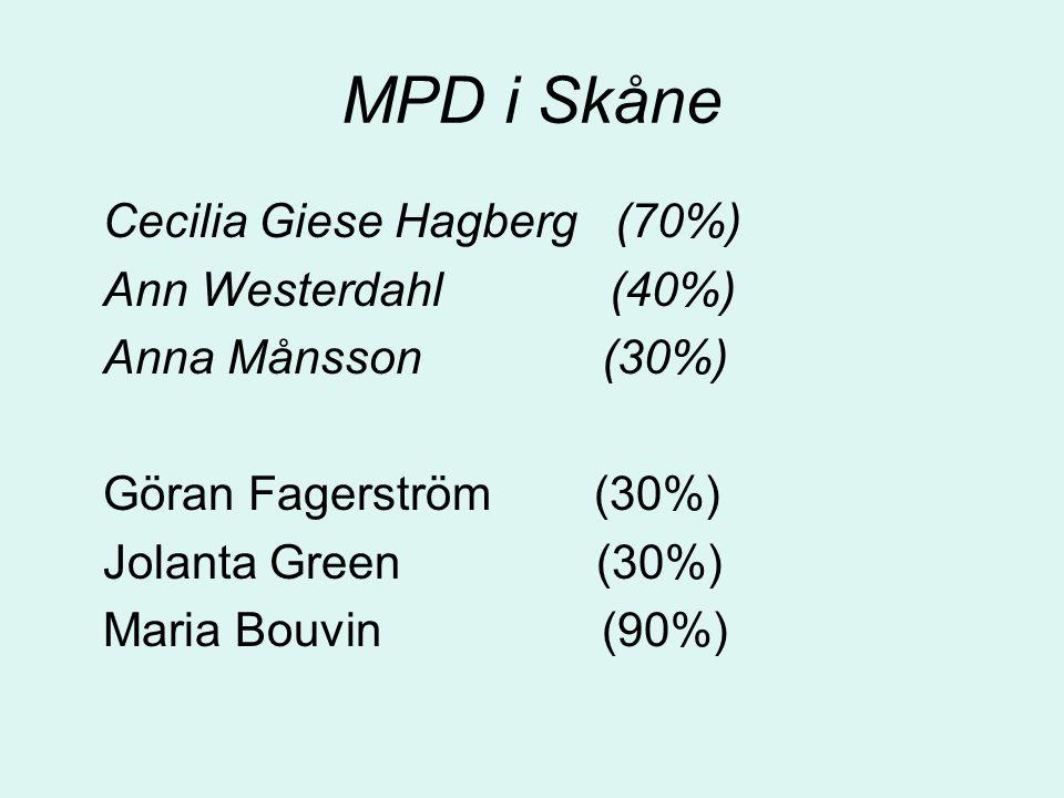 MPD i Skåne Cecilia Giese Hagberg (70%) Ann Westerdahl (40%)