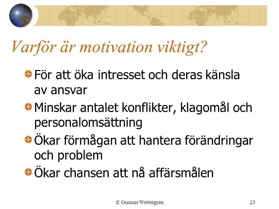 Varför är motivation viktigt
