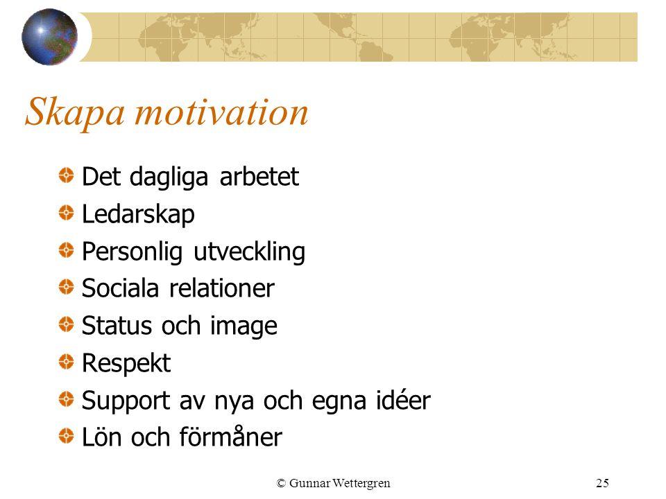 Skapa motivation Det dagliga arbetet Ledarskap Personlig utveckling