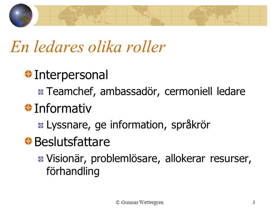 En ledares olika roller