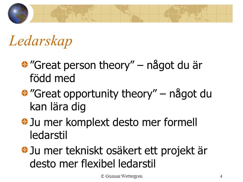 Ledarskap Great person theory – något du är född med