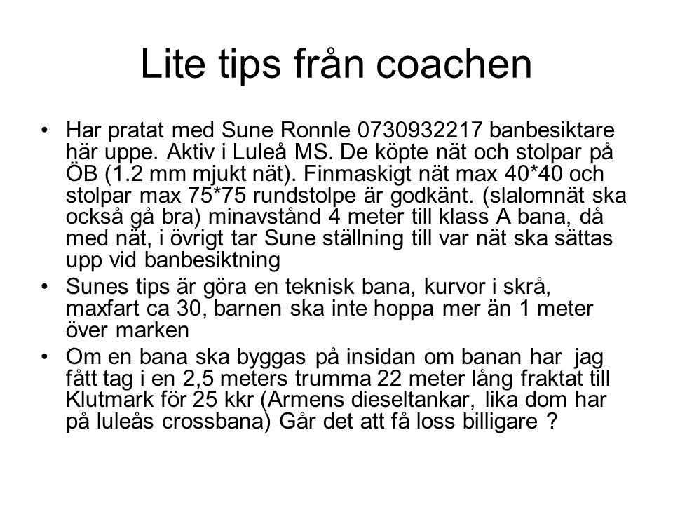 Lite tips från coachen