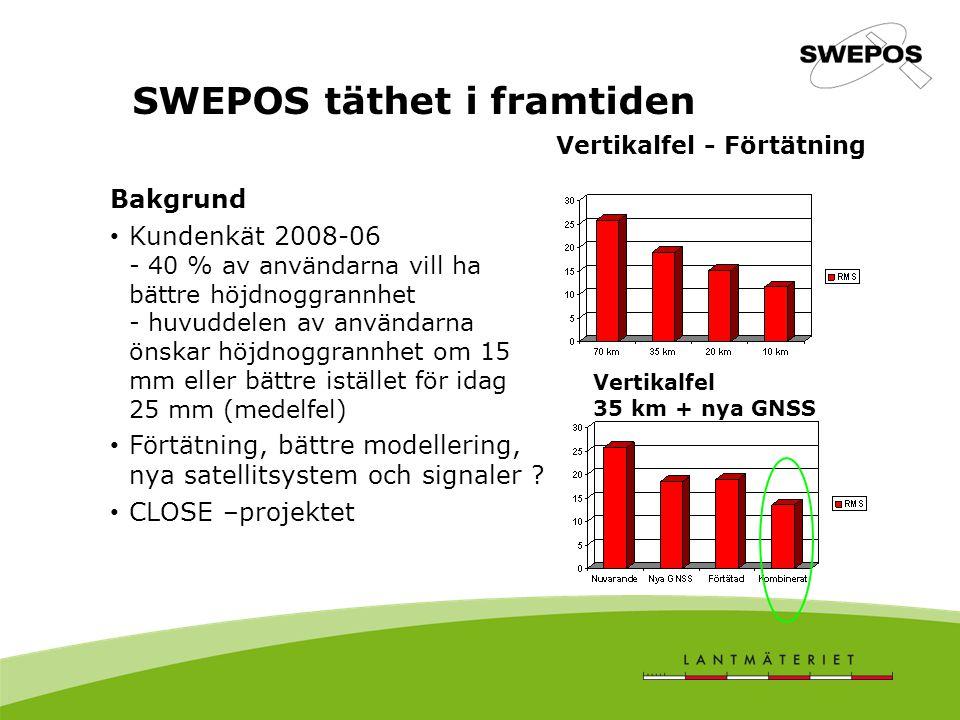 SWEPOS täthet i framtiden
