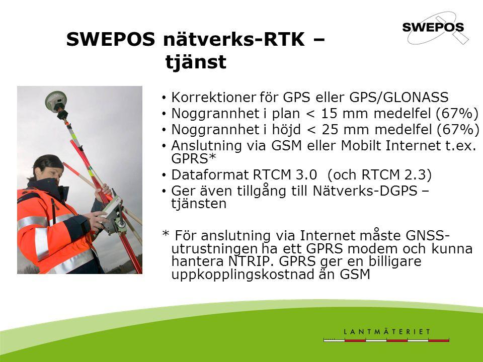 SWEPOS nätverks-RTK –tjänst