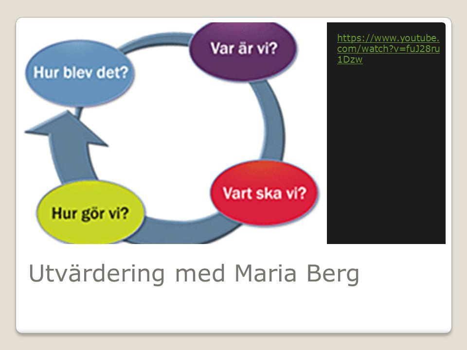 Utvärdering med Maria Berg