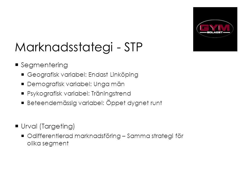 Marknadsstategi - STP Segmentering Urval (Targeting)