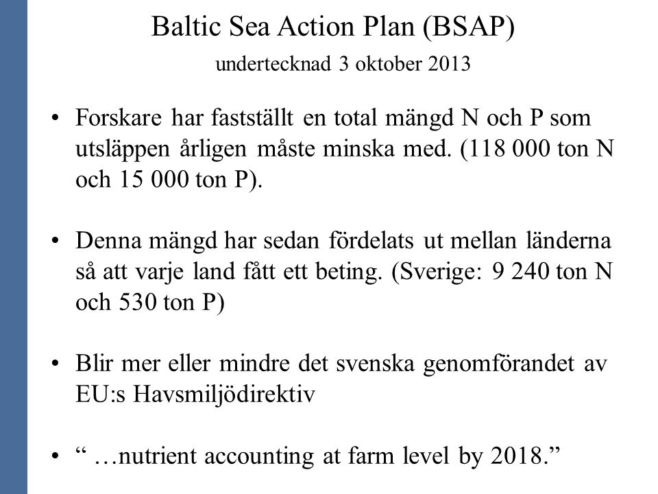 Baltic Sea Action Plan (BSAP)