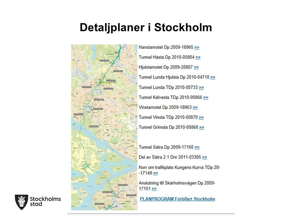 Detaljplaner i Stockholm