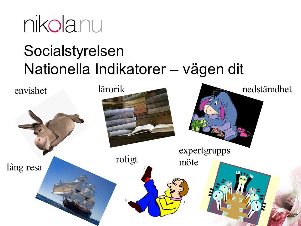 Socialstyrelsen Nationella Indikatorer – vägen dit
