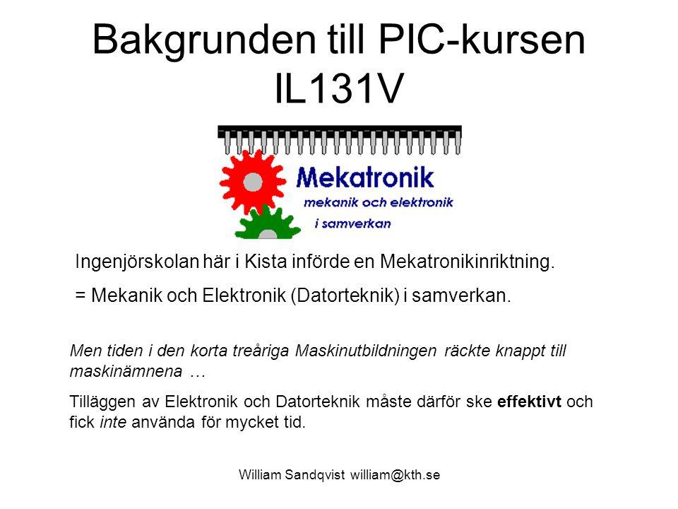 Bakgrunden till PIC-kursen IL131V