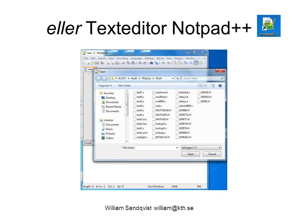 eller Texteditor Notpad++