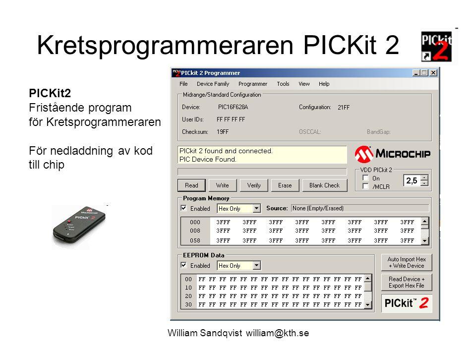Kretsprogrammeraren PICKit 2
