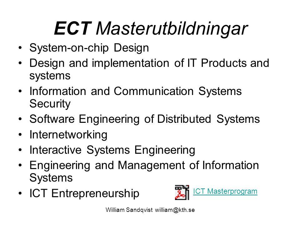 ECT Masterutbildningar