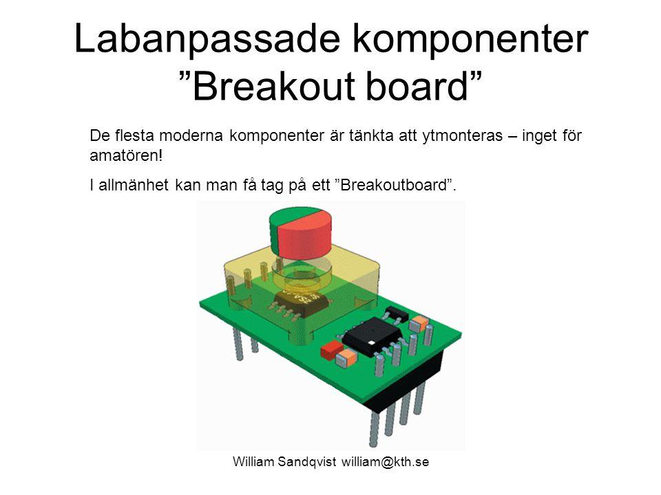 Labanpassade komponenter Breakout board