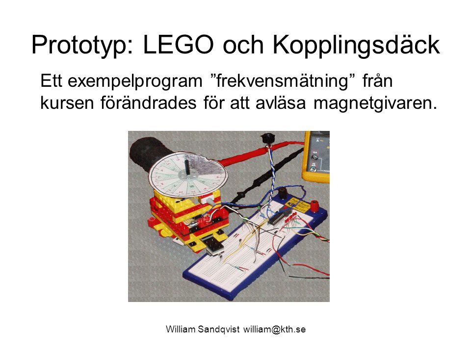 Prototyp: LEGO och Kopplingsdäck