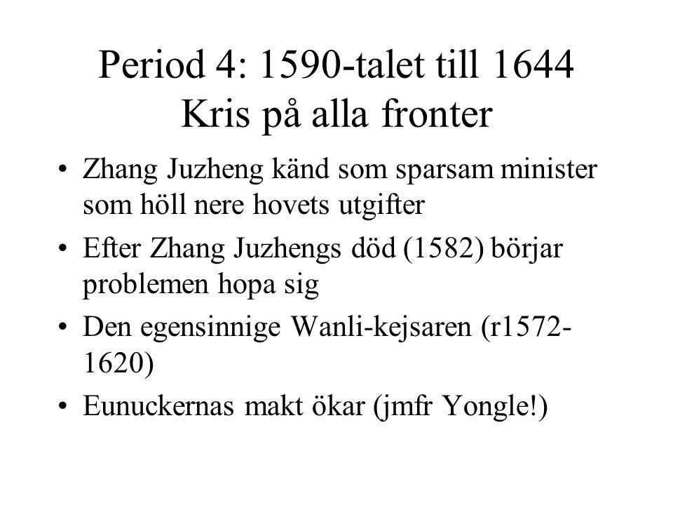 Period 4: 1590-talet till 1644 Kris på alla fronter