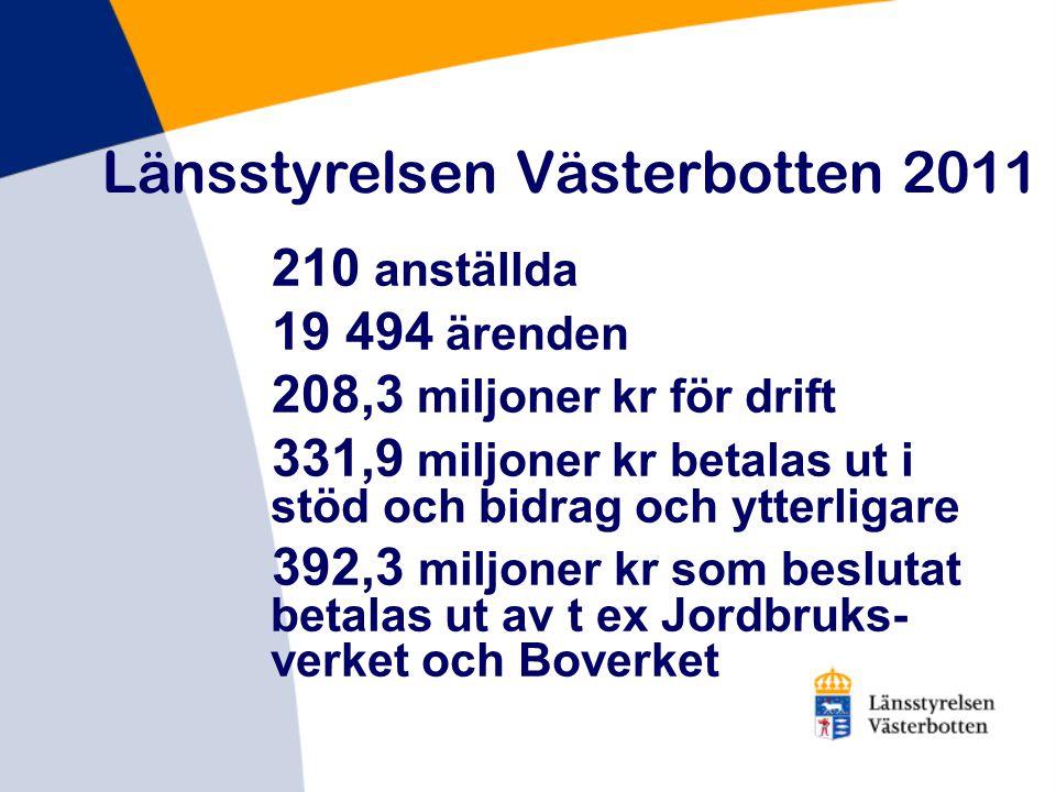 Länsstyrelsen Västerbotten 2011