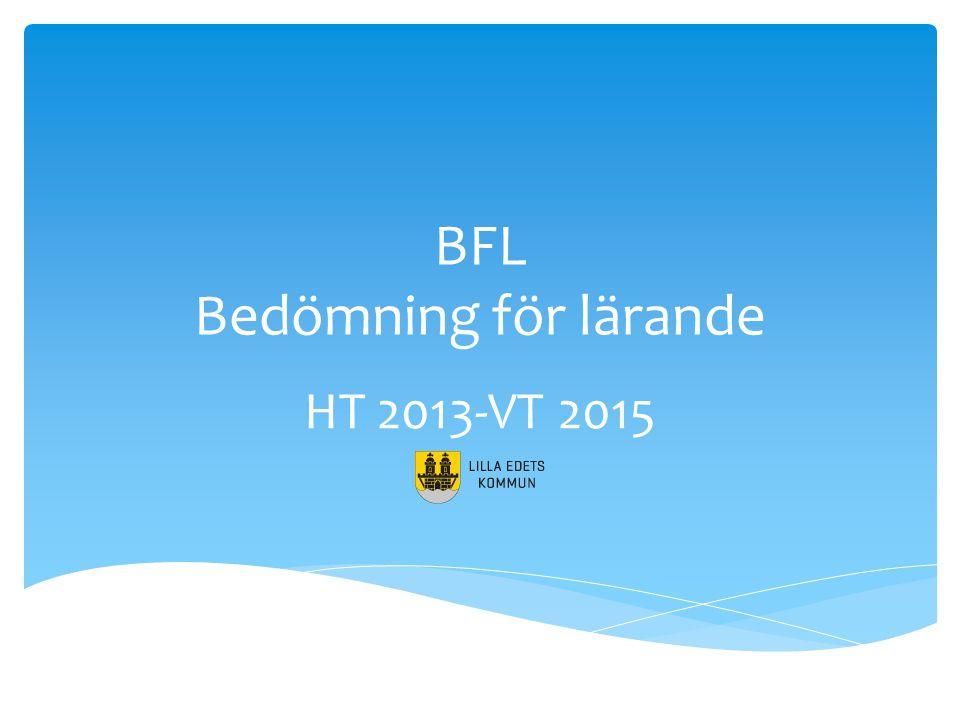 BFL Bedömning för lärande