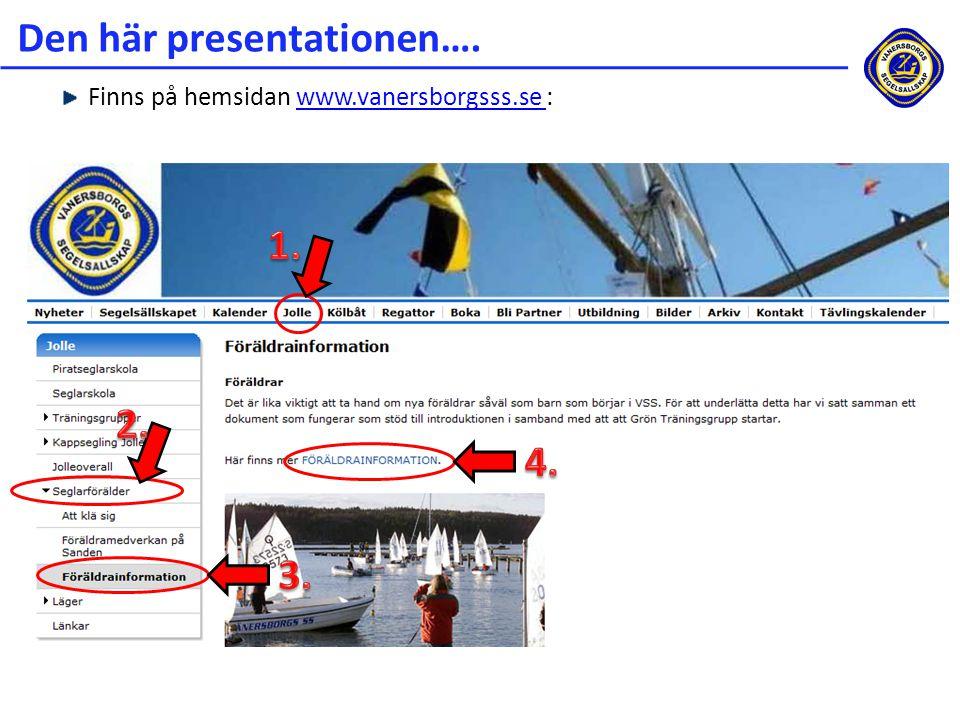 Den här presentationen….