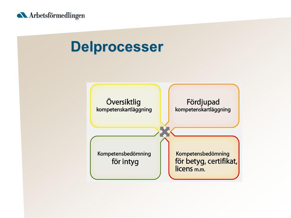 Delprocesser Syfte: Översiktligt identifiera kunskaper och kompetenser