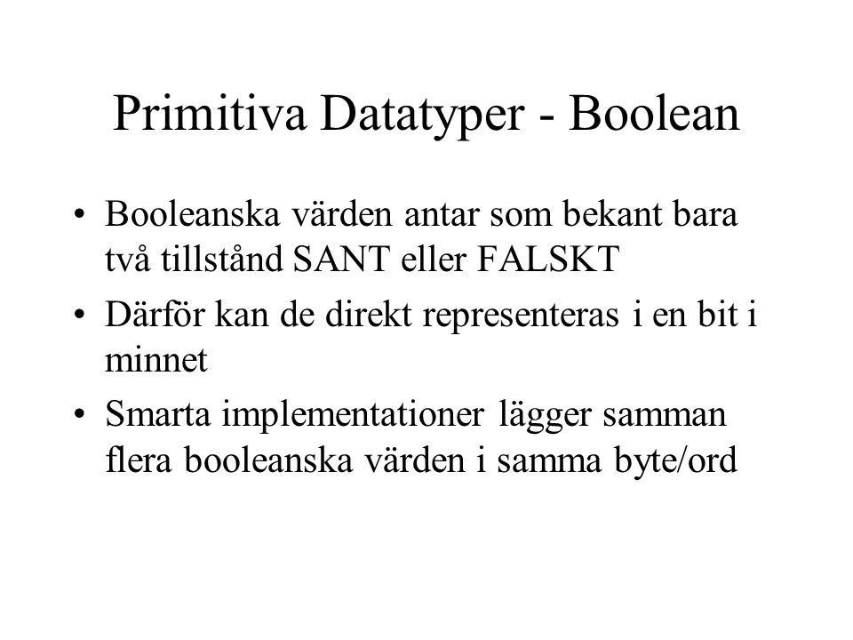 Primitiva Datatyper - Boolean