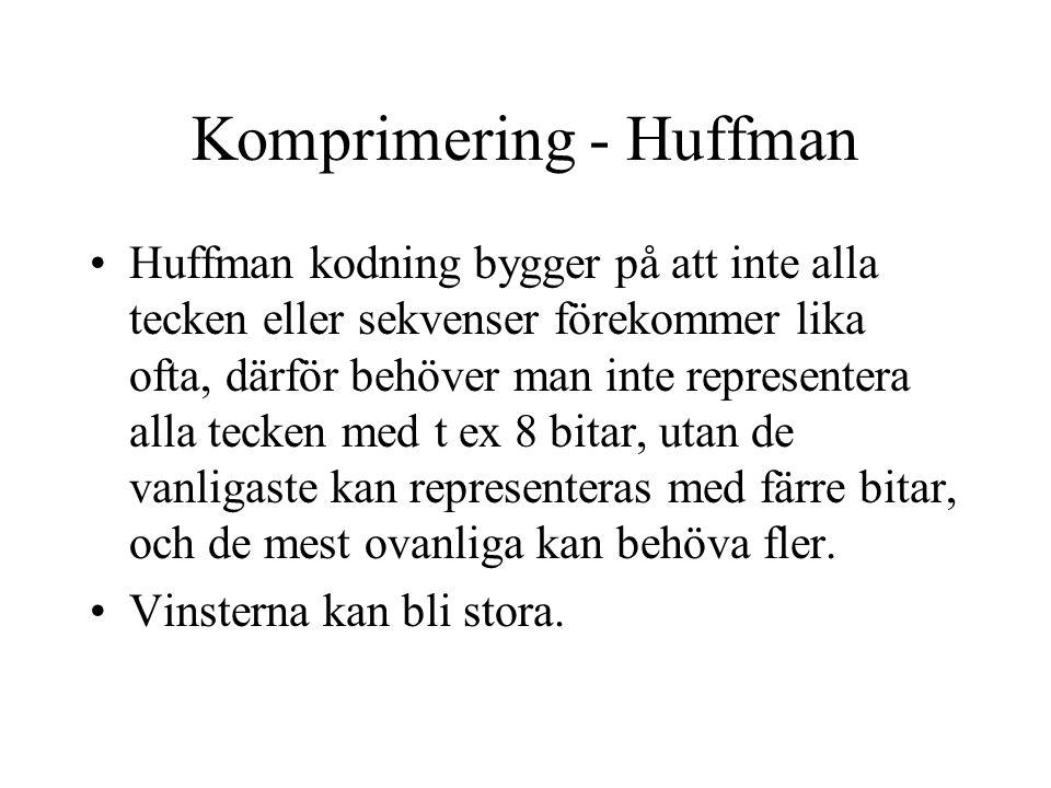 Komprimering - Huffman