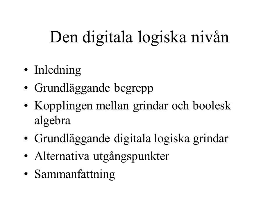 Den digitala logiska nivån