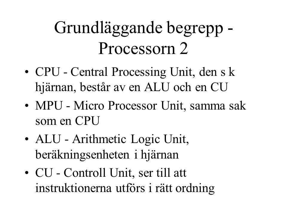 Grundläggande begrepp - Processorn 2