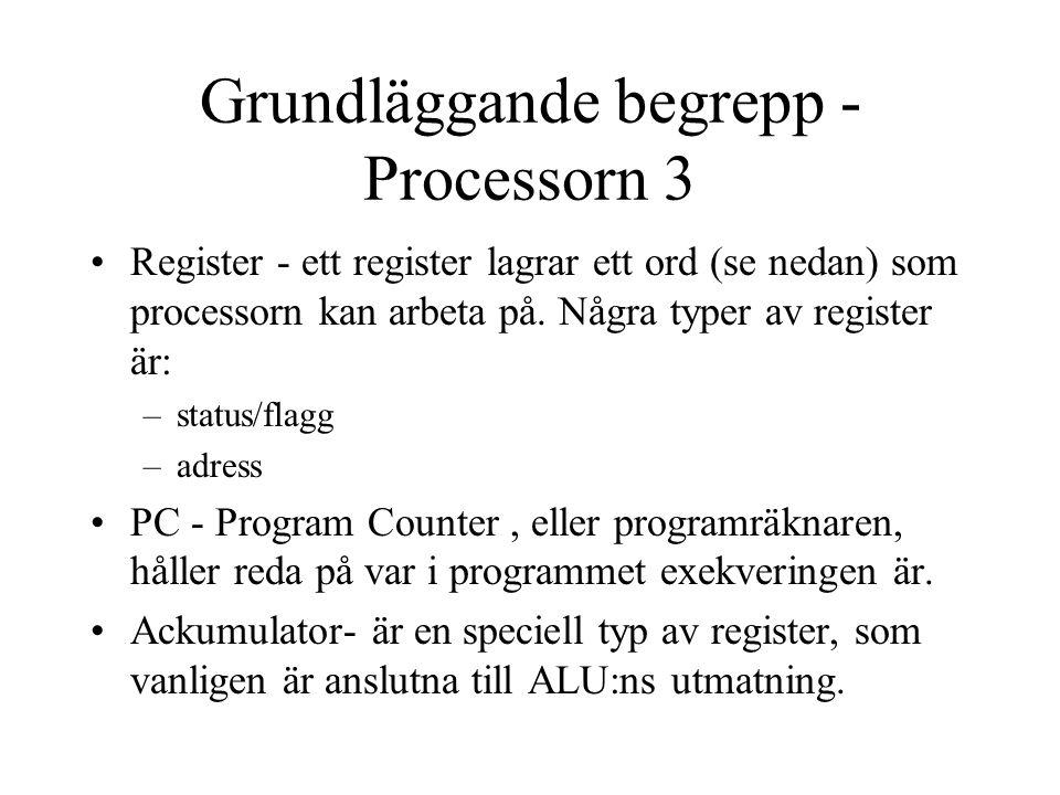 Grundläggande begrepp - Processorn 3