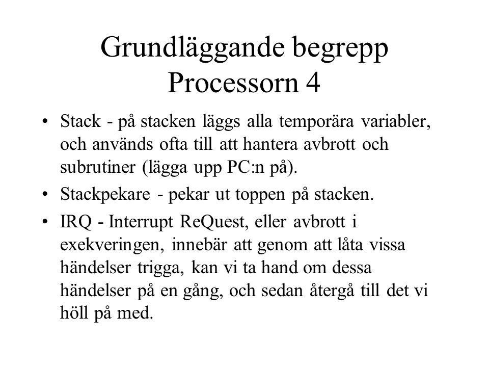 Grundläggande begrepp Processorn 4