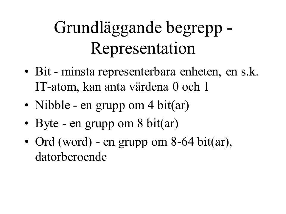 Grundläggande begrepp - Representation