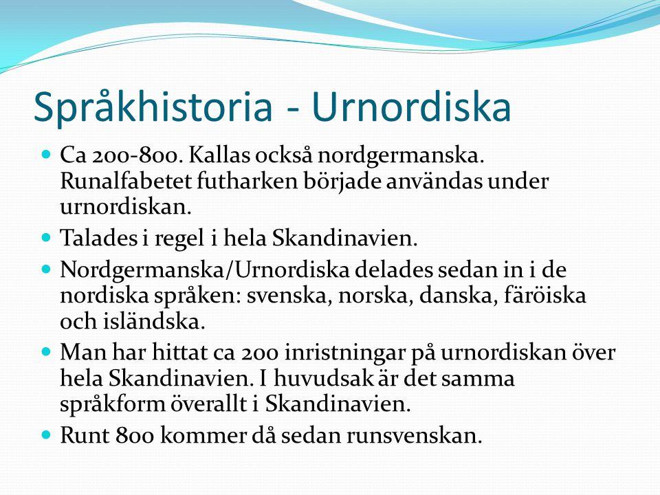 Språkhistoria - Urnordiska
