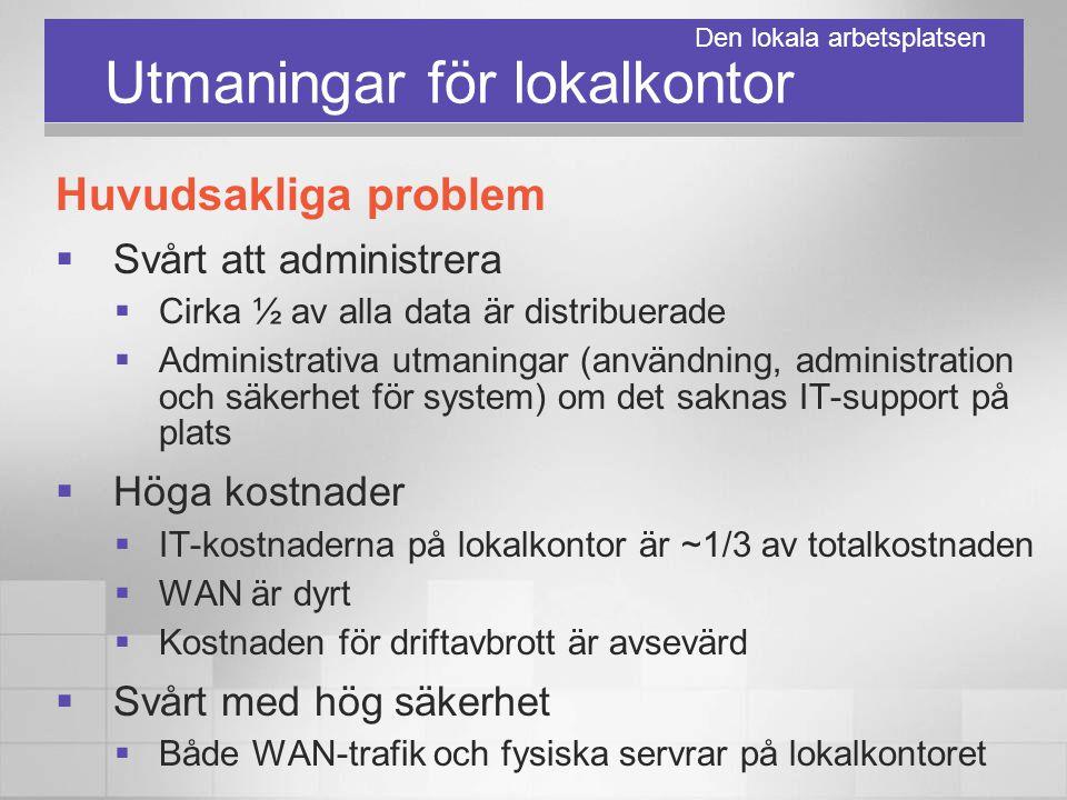 Utmaningar för lokalkontor